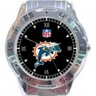 New NFL Miami Dolphins Unisex Stainless Steel Analogue Watch
