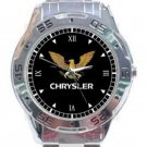 Classic Chrysler Imperial Crown Eagle Unisex Stainless Steel Analogue Watch