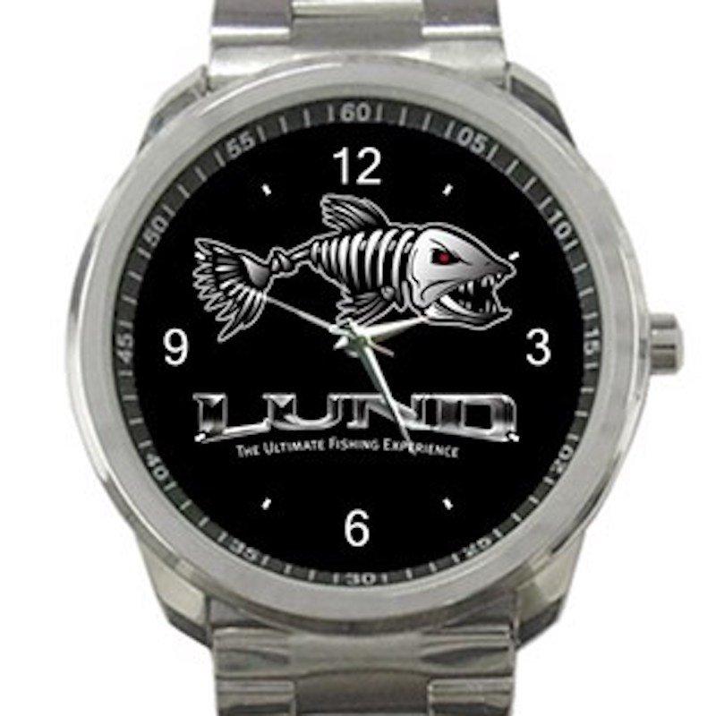 Lund Boat Fishing Unisex Sport Metal Watch