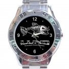 Lund Boat Fishing Unisex Stainless Steel Analogue Watch