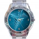 Medical Logo Health Care Doctor Unisex Stainless Steel Analogue Watch