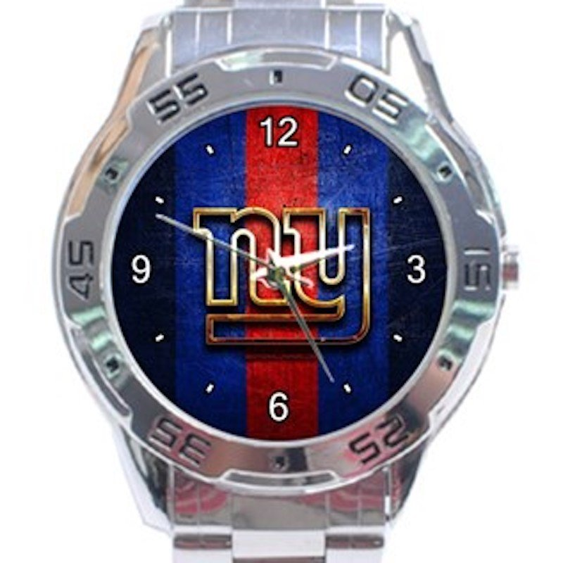 New York Giants Logo Unisex Stainless Steel Analogue Watch
