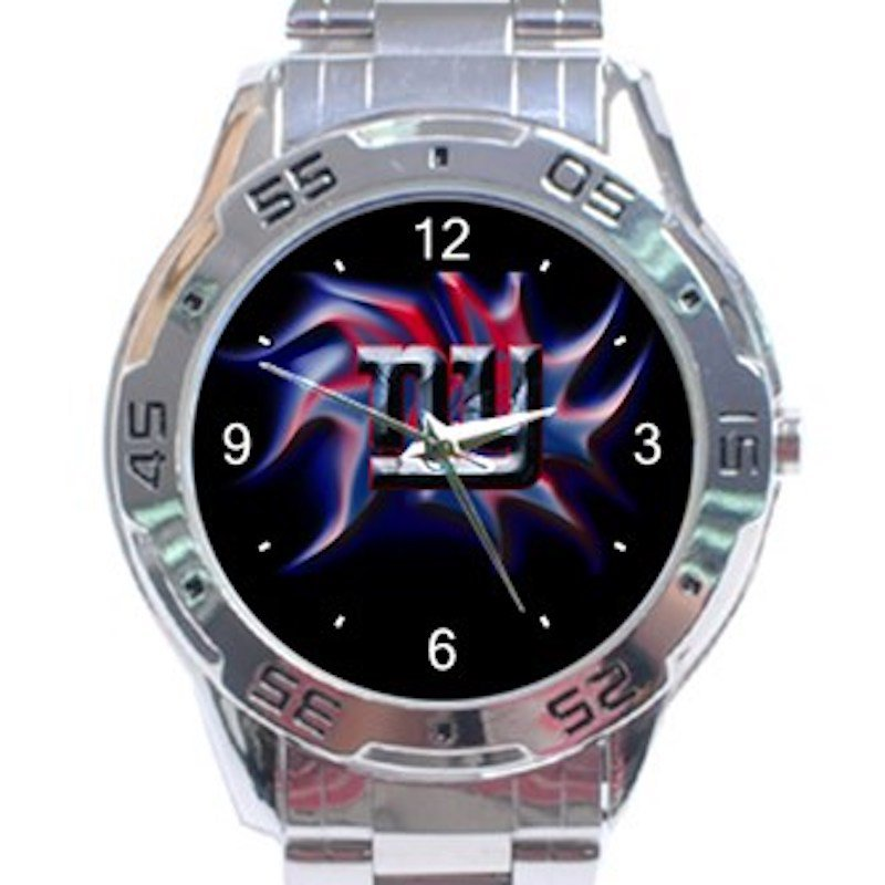 New York Giants Unique Logo Unisex Stainless Steel Analogue Watch