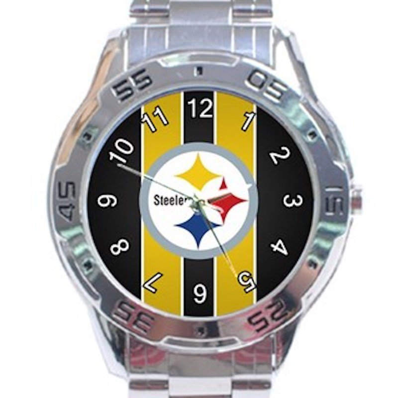 Pittsburgh Steelers Unisex Stainless Steel Analogue Watch