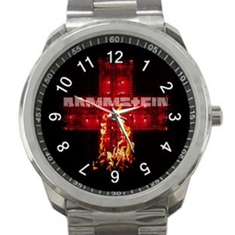 Rammstein Fire logo Unisex Sport Metal Watch