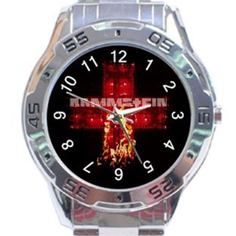 Rammstein Fire Logo Unisex Stainless Steel Analogue Watch