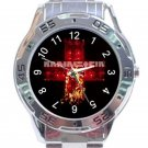 Rammstein Fire Logo Unisex Stainless Steel Analogue Watch