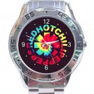 Red Hot Chili Peppers Colourful Logo Unisex Stainless Steel Analogue Watch