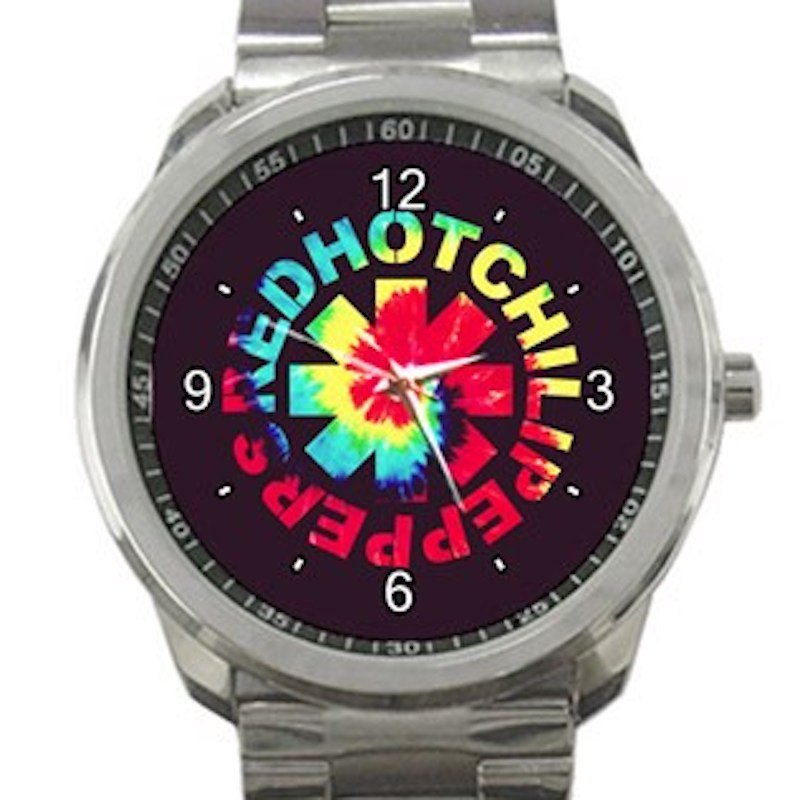 Red Hot Chili Peppers Colourful Logo Unisex Sport Metal Watch