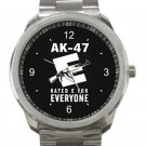 Rifle AK47 Gun Unisex Sport Metal Watch