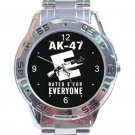 Rifle AK47 Gun Unisex Stainless Steel Analogue Watch