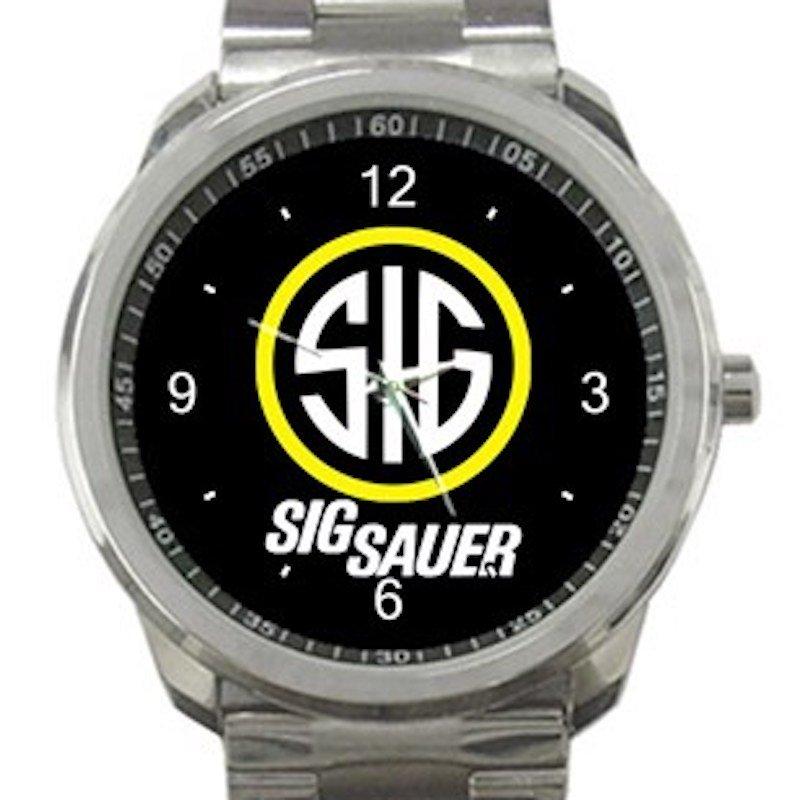 Firearms Sig Sauer Logo SIG Unisex Sport Metal Watch