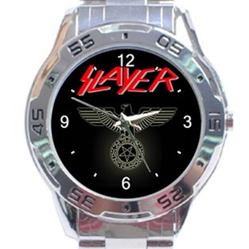 Slayer Music Band Unisex Stainless Steel Analogue Watch
