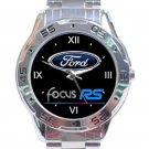 Ford Focus RS Logo Unisex Stainless Steel Analogue Watch
