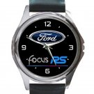 Ford Focus RS Logo Unisex Round Silver Metal Watch
