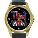 The Who Band Logo 2019 Unisex Round Gold Metal Watch