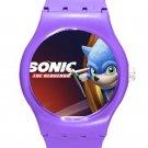Sonic the Hedgehog Movie SONIC ICE Style Round TPU Medium Sports Watch-Purple