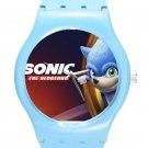 Sonic the Hedgehog Movie SONIC ICE Style Round TPU Medium Sports Watch-Blue