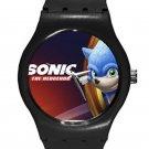 Sonic the Hedgehog Movie SONIC ICE Style Round TPU Medium Sports Watch-Black