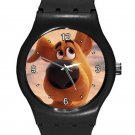 Cute Scooby-Doo Puppy Scoob! Movie ICE Style Round TPU Medium Sports Watch-Black