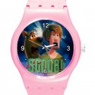 New Scoob! Movie Scooby-Doo With Fred ICE Style Round TPU Medium Sports Watch-Pink