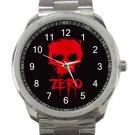 Zero Skateboard Red Skull Unisex Sport Metal Watch