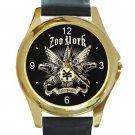Zoo York Unbreakable Tattoo Unisex Round Gold Metal Watch