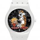 Calvin and Hobbes ICE Style Round TPU Medium Sports Watch-White