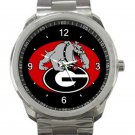 Georgia Bulldogs University of Georgia Athletics Logo Unisex Sport Metal Watch