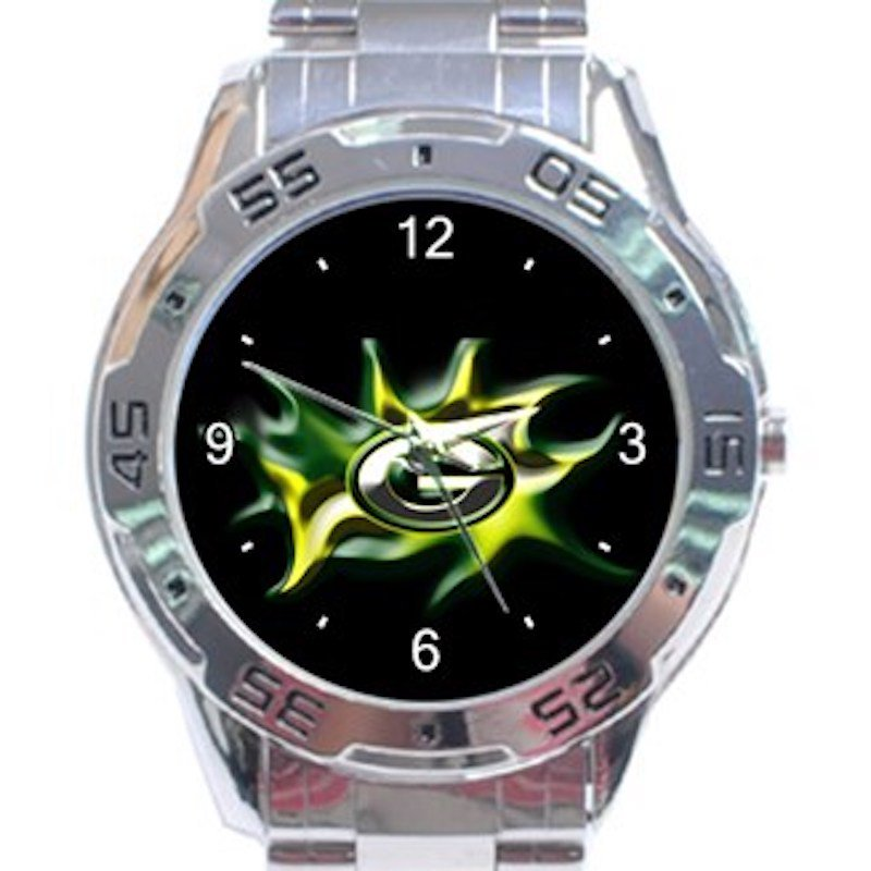 Green Bay Packers Logo Unisex Stainless Steel Analogue Watch