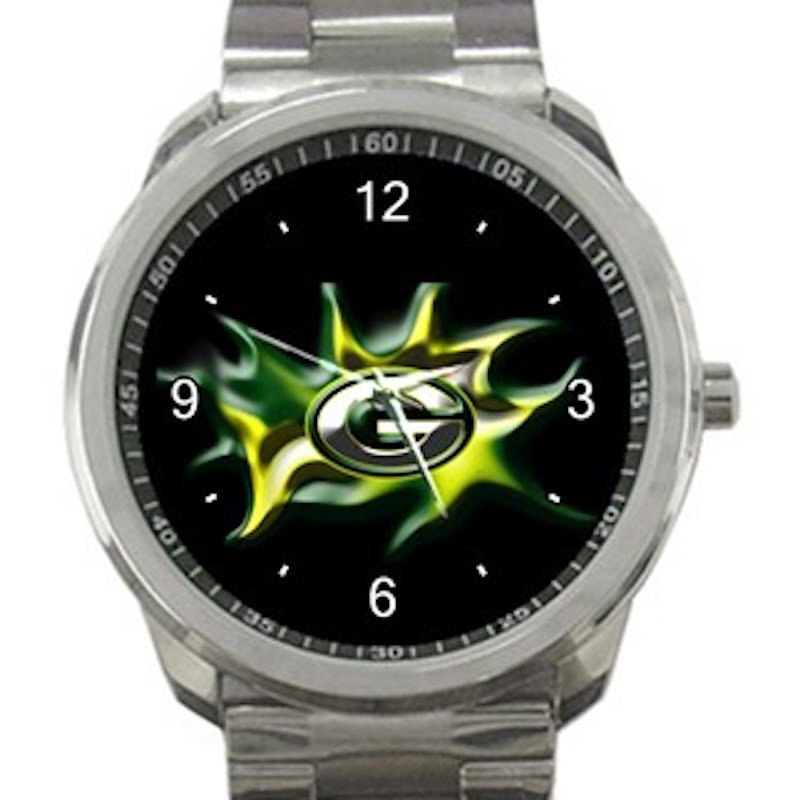 Green Bay Packers Logo Unisex Sport Metal Watch