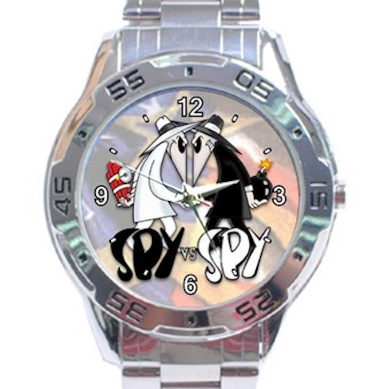 Funny Spy Vs Spy Unisex Stainless Steel Analogue Watch