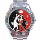 Spy Vs Spy Black & Red Design Unisex Stainless Steel Analogue Watch