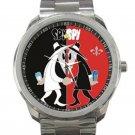 Spy Vs Spy Black & Red Design Unisex Sport Metal Watch