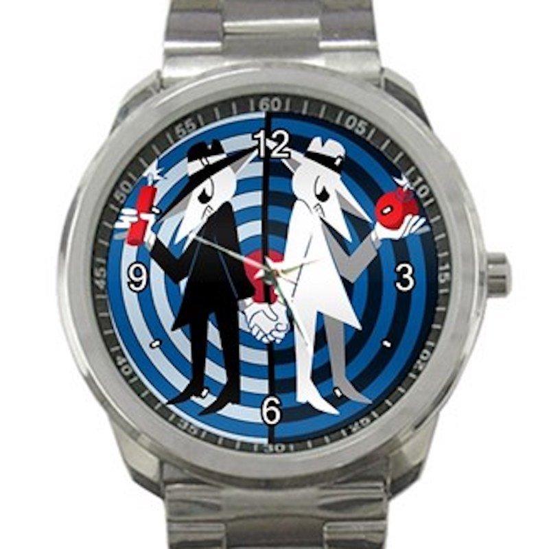 Spy Vs Spy Bomb & Dynamite Unisex Sport Metal Watch
