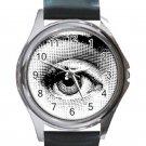 Fornasetti Eye Unisex Round Silver Metal Watch