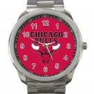 Chicago Bulls NBA Basketball Team Logo 2 Unisex Sport Metal Watch
