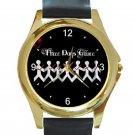 Three Days Grace Art Unisex Round Gold Metal Watch