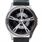 2009 AC Schnitzer BMW 7 Series F01 Wheel Unisex Round Silver Metal Watch