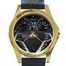 2015 Hyundai Veloster Steering Wheel Unisex Round Gold Metal Watch