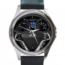 2015 Hyundai Veloster Steering Wheel Unisex Round Silver Metal Watch