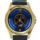 BMW Blue Halo Fuel Cap Unisex Round Gold Metal Watch