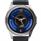 BMW Blue Halo Fuel Cap Unisex Round Silver Metal Watch