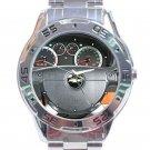 Chevrolet Aveo Steering Wheel Unisex Stainless Steel Analogue Watch