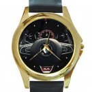 Renault Megane R.S. 280 Cup Steering Wheel Unisex Round Gold Metal Watch