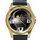 Renault Megane RS Cup 250 Steering Wheel Unisex Round Gold Metal Watch