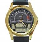 2012 KAWASAKI NINJA 650 Speedometer Unisex Round Gold Metal Watch