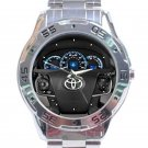 2012 Toyota Camry Hybrid Steering Wheel Unisex Stainless Steel Analogue Watch
