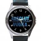 New Absolut Vodka Logo Unisex Round Metal Watch