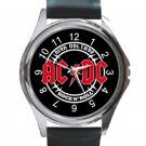 AC DC Rock N' Roll High Voltage Unisex Round Metal Watch